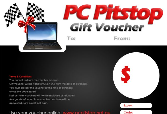 PC Pitstop Gift Vouchers Make Great Gifts for the Geek in Your Life!