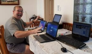 Bruce Smail Port Macquarie using Computers