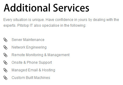 pitstopit additionalservices