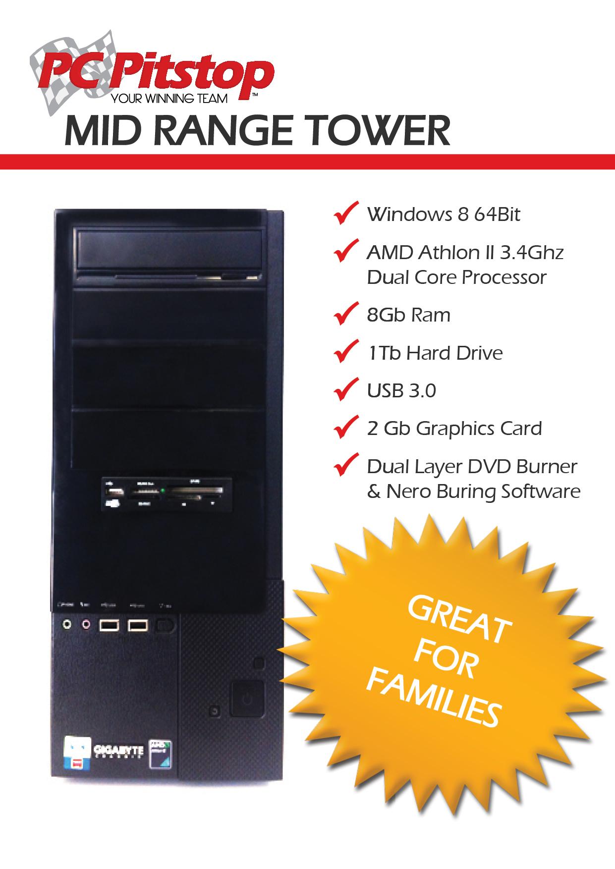 PC Pitstop Inhouse Specials Mid Range Tower
