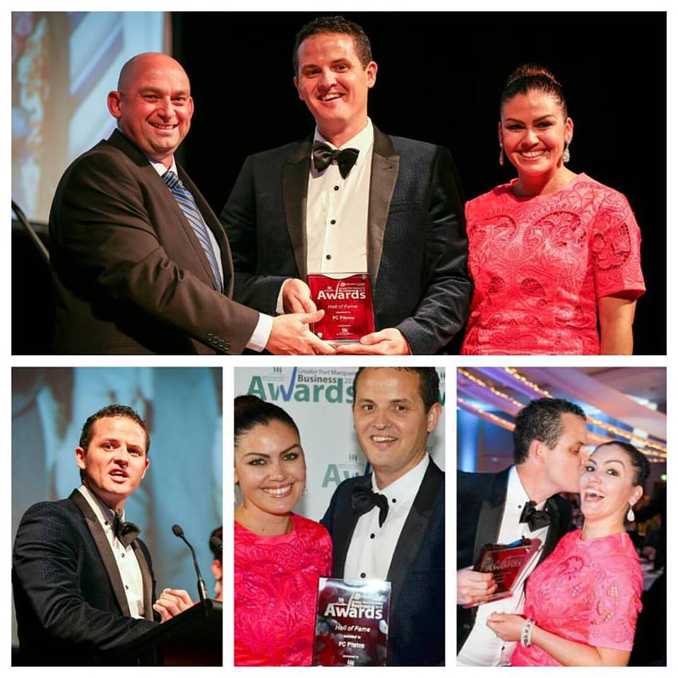ben waters samantha clark pc pitstop port macquarie business awards 2