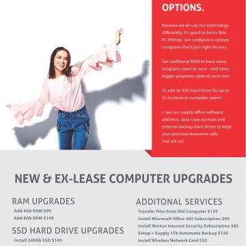 Easy Upgrade Options for Your New or Refurbished Computer