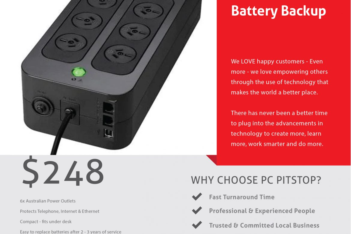 Protect Your Computer with an Uninterruptible Power Supply!