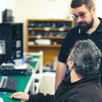 Computer Technicians explaining project
