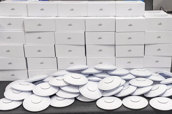Ubiquiti UniFI Access Points ready for a large Motel deployment
